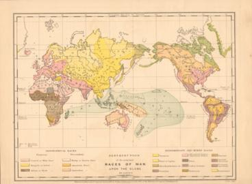 Distribution Of The Principal Races Of Man Upon The Globe