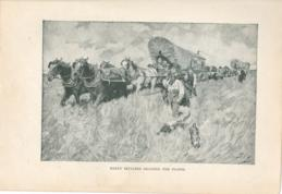 Early Settlers Crossing The Plains