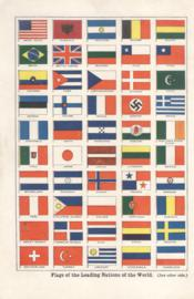 Flags of the leading nations of the world