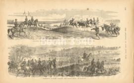 Gen Fremonts Army On Its March -- Fremonts Hussars Fording The Osage River At Warsaw