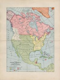 Map Of North America Showing Foreign Territory At The Close Of The Revolution