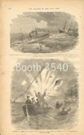 Rescue Of Major Reynolds Battalion Of Marines -- Exposion Of A Shell In The Cutter Of The Niagra