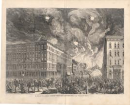 Scene In Dearborn Street When The Fire Reached The Tremont House
