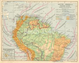 South America Northern Section Political And Economic Map