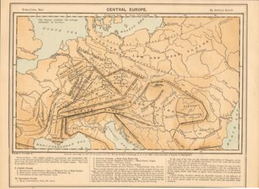 Structural Map Of Central Europe